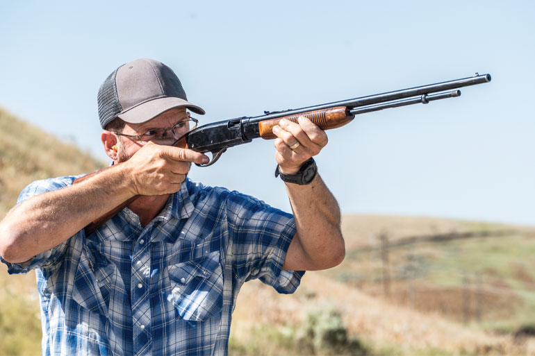 Svelte and ergonomic, Remington's pump-action .22 rimfire Model 572 Fieldmaster balances beautifully, carries comfortably, and points naturally.