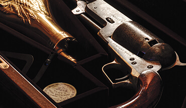 One of the supreme gloss jobs of all time has to do with the Walker Colt revolver.