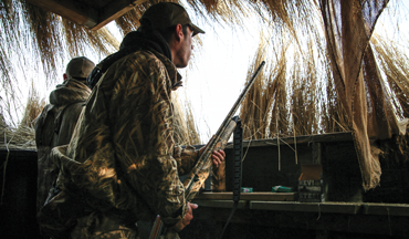 With birds talking, calls sounding and wind blowing, it can be tough to hear the call from the other side of the blind.