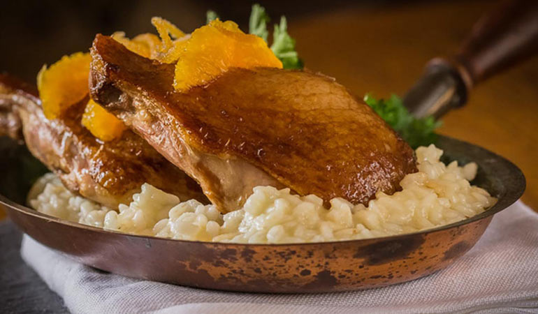 Orange and Soy Roast Duck Legs with Risotto Recipe