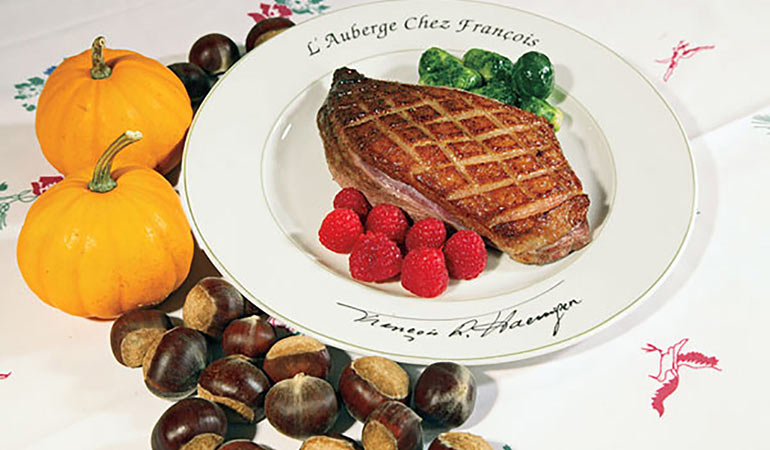 Grilled Goose Breasts with Chestnut Stuffing Recipe
