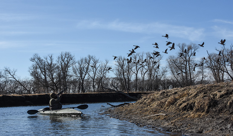 Hunting Waterfowl from a Kayak