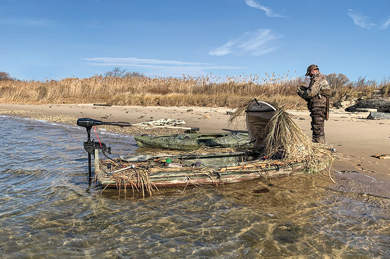 Convert a Sailboat into a Sneak Boat for Waterfowl Hunting