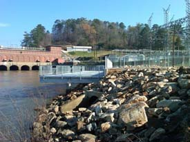 New Fishing Pier at Morgan Falls Dam