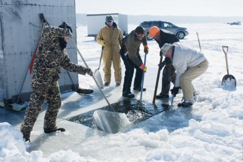 STURGEON SPEARING IN WISCONSIN