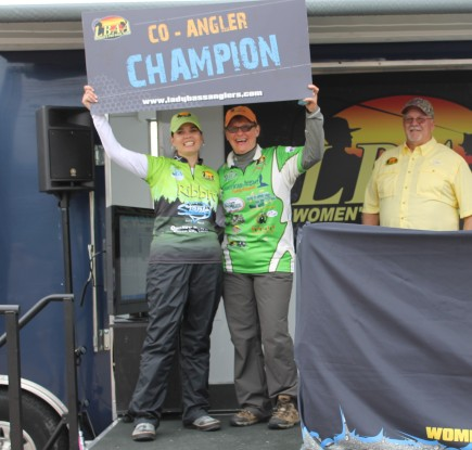 McLaurin and Uebelhack tie for the top co-angler spot