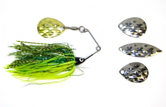 Various spinnerbait blades