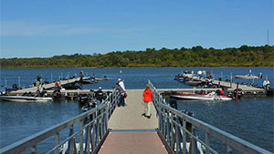 Fishermen like to talk. It's hard to pass up a good fishing story ' dock talk ' at the boat ramp or tackle shop.