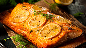 This fresh and healthy salmon recipe gives the fish a sweet smoky flavor.