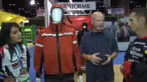 Lynn Burkhead talks with bass anglers John Crews and Kate Dattilo about the function and features of STORMR's latest adverse-weather outerwear series called PRIME.