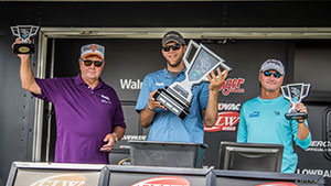 The Mystik Lubricants-sponsored trio of Bill Dance, Cody Detweiler and Dave East brought a five-bass limit to the scale Tuesday morning totaling 17 pounds, 1 ounce to win the inaugural ICAST Cup presented by FLW bass-fishing tournament on Lake Toho.