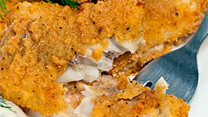 This blue catfish recipe uses Cajun spices and is fried to perfection. I love a thin, spicy coating and dipping in tartar sauce.