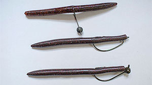Stick-style bass baits are effective soft plastics; here are six different ways to rig them to offer bass a different look.