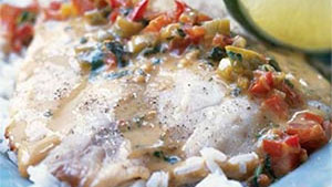 The strong flavors of coconut and curry make this fantastic tilapia dish shine.
