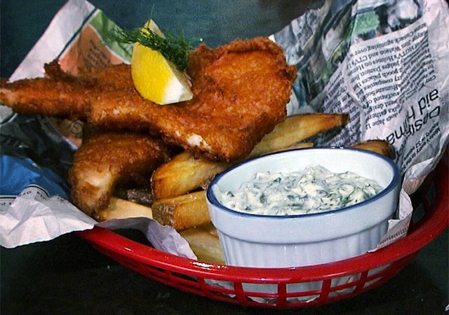 Gluten-Free Fish and Chips with  Tartar Sauce
