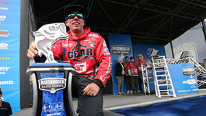 Britt Myers of Lake Wylie, S.C. was able to overcome a cold front to emerge victorious at the Huk Performance Fishing Bassmaster Elite at Winyah Bay.