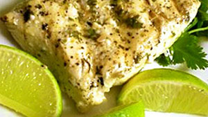 Looking to freshen up your barbecue? This cilantro-lime halibut recipe is the answer.