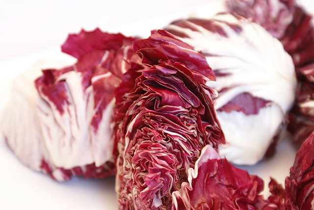Grilled Salmon with Radicchio Heads