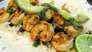 A hint of lime and spices from the far east give these lightly grilled shrimp an exotic flavor.