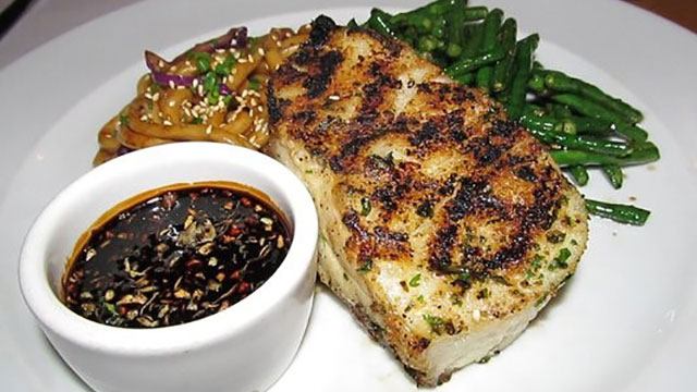 Lemon Stuffed Grilled Sea Bass