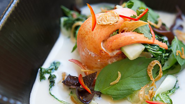 Poached Maine Lobster with Coconut Broth Recipe
