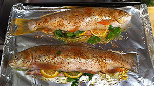 There's nothing better than a stuffed fish and this trout recipe will not disappoint.