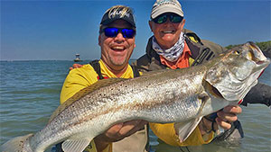 From late February and on into early May, spring offers a superb opportunity for saltwater fly rodders to target speckled (gator) trout pushing the 30-inch mark in the fabled waters of the Baffin Bay region to the south of Corpus Christi.