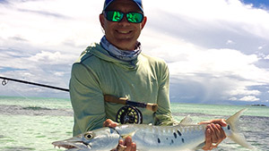 Overlooked by many fly anglers, the barracuda should be flats fishing royalty thanks to its blistering speed, snarly attitude, and aggressive takes of a fly.
