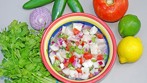 What is ceviche? Sometimes spelled seviche or cebiche, ceviche is a unique fish dish enormously popular in the western countries; it has many variations but is basically a simple blending of raw fish and citrus juice.