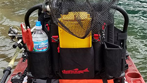 Keep your fishing accessories organized with the WingMan Fishing Seat Accessory Pack by Danuu.
