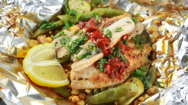 foil packet grilled walleye recipe