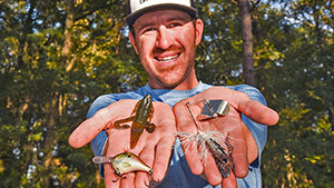 Professional angler Jacob Wheeler breaks down his top three, don't-leave-home-without bass lures based on versatility and past history of putting fish in the boat.