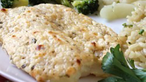 Tilapia can be prepared a hundred different ways, but a Parmesan cheesy crusted tilapia is truly divine.