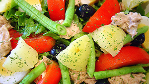 Add color to your plate and get a variety of vitamins in with this delicious tuna salad provencal recipe.