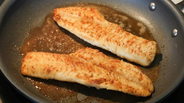 walleye brown butter capers fillets