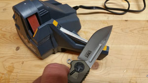 There will be no excuse to have a dull knife in the house once you start using this sharpener