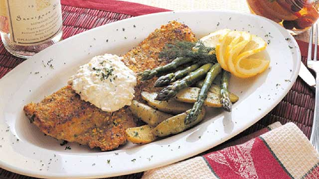 pistachio crusted walleye recipe