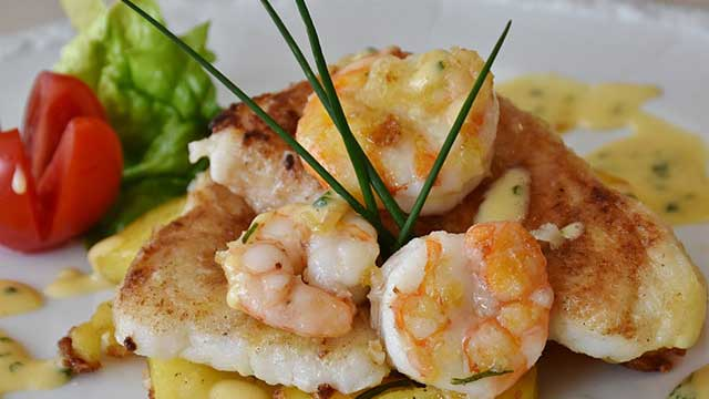 Baked Walleye with Shrimp Recipe
