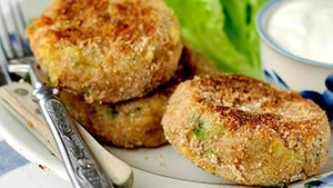 Serve this Homemade Crappie Patties Recipe with a homemade garlic-butter sauce.