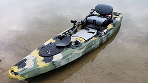 The Shadow Caster Kayak is a maneuverable and stable kayak offered at a great price point.