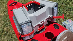The Plano V-Crate is an innovative tackle box with various storage spaces and might be just what you need out on the water.