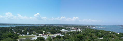 A view of St. Augustine from atop Anastasia Island.